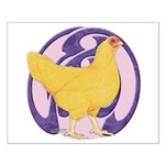 Hen Buff Chantecler Small Poster