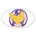 Hen Buff Chantecler Oval Sticker