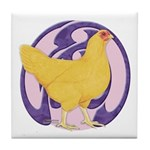 Hen Buff Chantecler Tile Coaster