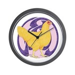 Hen Buff Chantecler Wall Clock