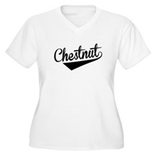 Chestnut, Retro, Plus Size T-Shirt