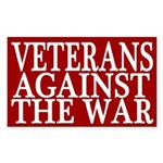 Veterans Against the War bumper sticker