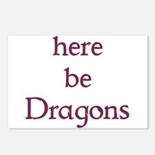 Here Be Dragons 002c Postcards (Package of 8)