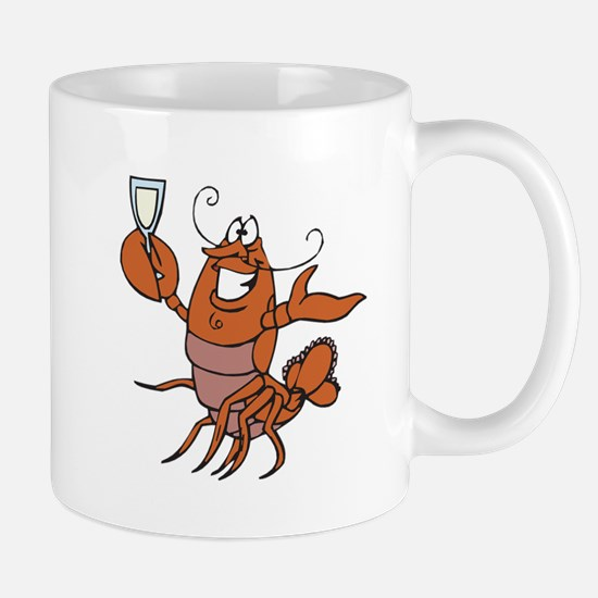 Toasting Wine Lobster Mug