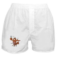 Toasting Wine Lobster Boxer Shorts