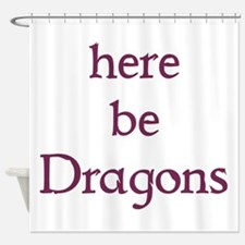 Here Be Dragons 002c Shower Curtain
