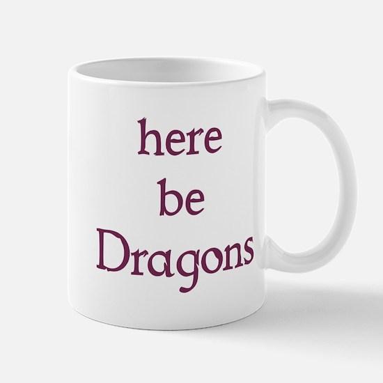 Here Be Dragons 002c Mugs