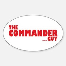 The Commander Guy Oval Decal