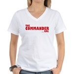 The Commander Gal Women's V-Neck T-Shirt