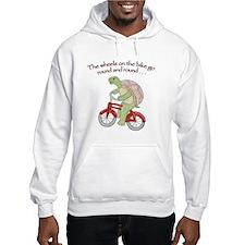 Turtle on Bike Hoodie