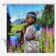 Otter Tails Shower Curtain