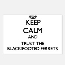 Keep calm and Trust the Black-Footed Ferrets Postc