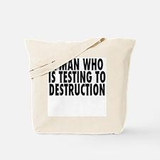 A Man Testing Tote Bag