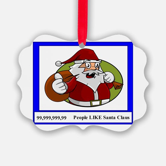 Like On Santa Claus Social Media Ornament