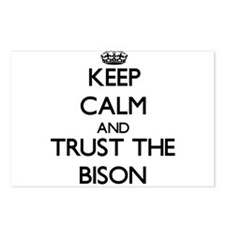 Keep calm and Trust the Bison Postcards (Package o