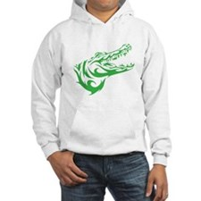 Green Alligator Head Hoodie