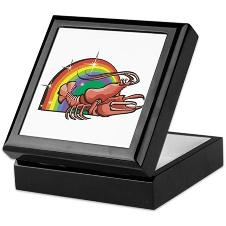 Rainbow Lobster Design Keepsake Box