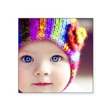 cute baby with blue eyes Sticker