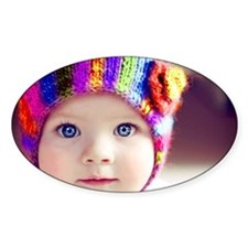 cute baby with blue eyes Decal