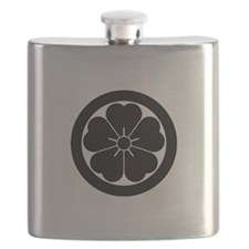 Cherry blossom in circle Flask