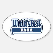WB Dad [Worldwide] Oval Decal