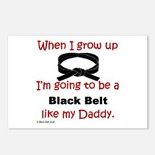 Funny Black belt Postcards (Package of 8)