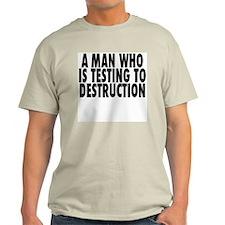 A Man Testing T-Shirt