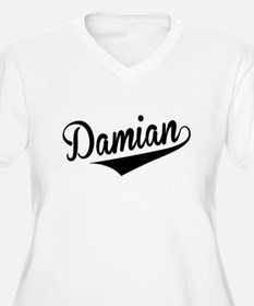 Damian, Retro, Plus Size T-Shirt