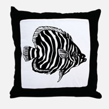 Zebra Tropical Fish Throw Pillow