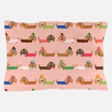 Delightful Dachshunds Pillow Case