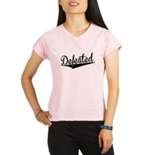 Defeated, Retro, Performance Dry T-Shirt
