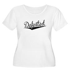 Defeated, Retro, Plus Size T-Shirt