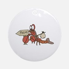 Lobster Moving to Maine Ornament (Round)