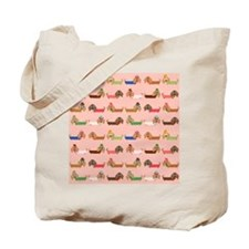 Delightful Dachshunds Tote Bag