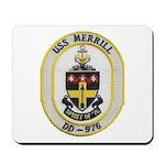 USS MERRILL Mousepad