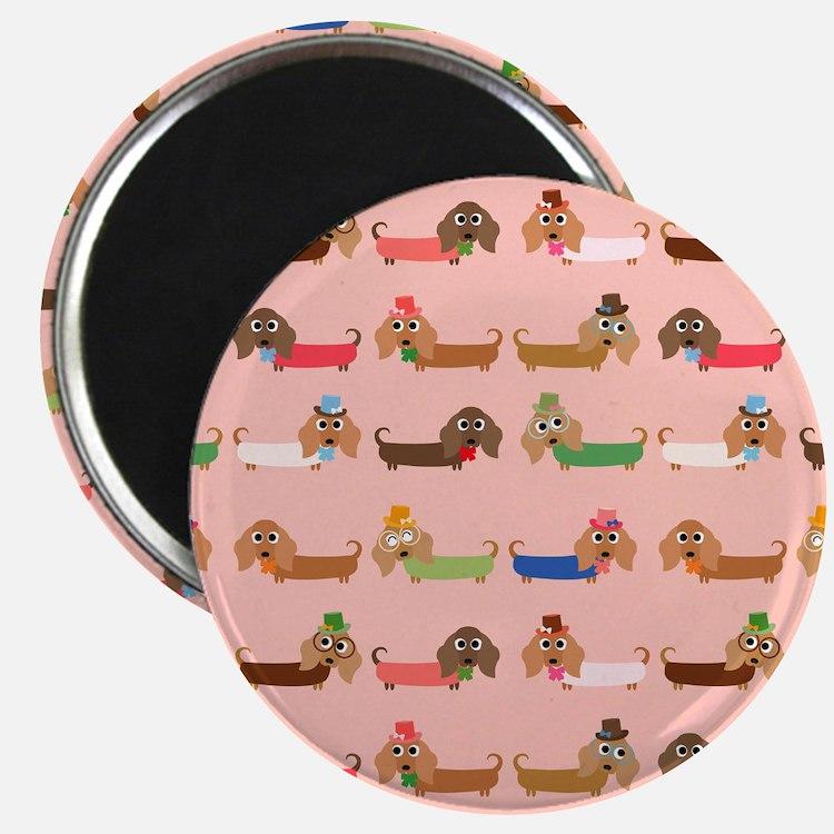 Delightful Dachshunds Magnet