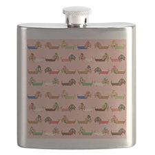 Delightful Dachshunds Flask