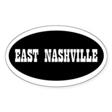 East Nashville Oval Decal