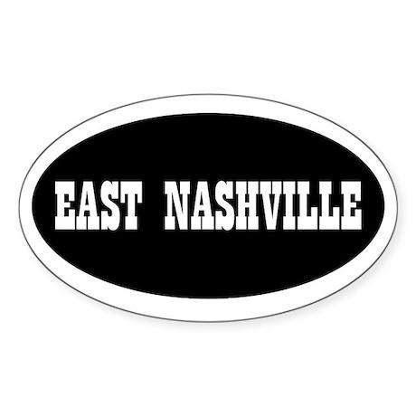 East Nashville Oval Sticker