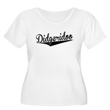 Didgeridoo, Retro, Plus Size T-Shirt