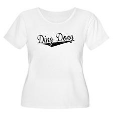 Ding Dong, Retro, Plus Size T-Shirt
