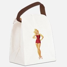 Pin Up Canvas Lunch Bag