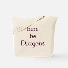 Here Be Dragons 002c Tote Bag
