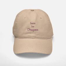 Here Be Dragons 002c Baseball Baseball Cap