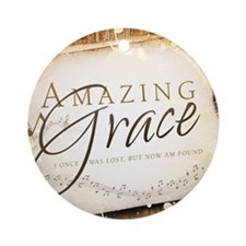 Amazing Grace Round Ornament