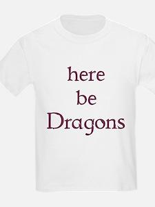Here Be Dragons 002c T-Shirt