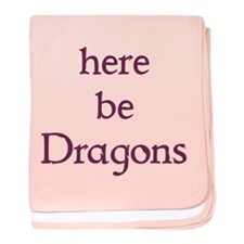 Here Be Dragons 002c baby blanket