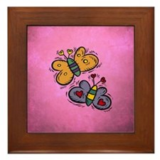 BUTTERFLIES Framed Tile
