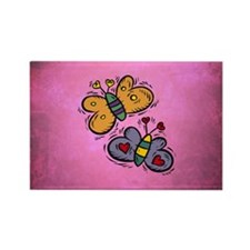 BUTTERFLIES Rectangle Magnet