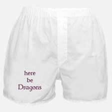 Here Be Dragons 002c Boxer Shorts